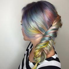 Macaron Hair Is the Sweetest Way to Get In on the Rainbow Trend: Pastel rainbow hair is our favorite variation of the trend — when done well, it looks like a unicorn's mane.