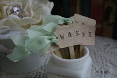 WEDDING CUPCAKE TOPPER   monogram cupcake by PinkCherryMama, $87.50