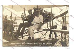 GLENN CURTISS & BILLY SUNDAY IN AIRPLANE AT WINONA LAKE  - INBODY rppc Postcard  | eBay