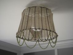 DIY Clam Basket Light~~~cute idea for a kitchen nook!