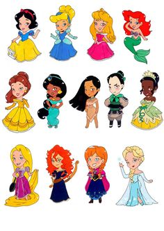 Disney Princess Stickers by GeekyMelon on Etsy
