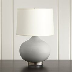 """Merie Grey Table Lamp with Nickel Base - 21.5"""" H x 15""""dia - $199 (less 15% is $169.15)"""