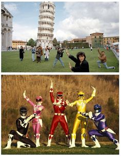 Parecidos razonables: Power rangers y Pisa. #humor #risa #graciosas #chistosas #divertidas
