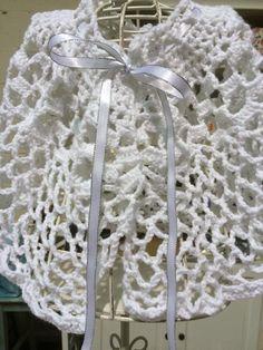 Crochet Pattern Communion Cape : Flower Girl Cape / First Communion Cape / White Crocheted ...