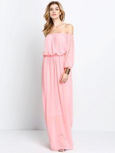 Pink Half Sleeve Off The Shoulder Maxi Dress Nice Dresses, Maxi Dresses, Tall Women, Half Sleeves, Cute Outfits, Glamour, Style Inspiration, Elegant, Stylish