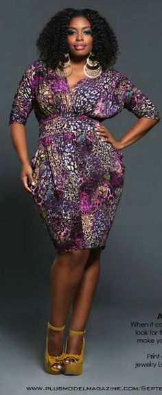 Beautiful Purple Plus Size Dress #UNIQUE_WOMENS_FASHION http://stores.ebay.com/VibeUrbanClothing