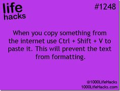 When you copy something from the internet, use Ctrl+Shift+V to paste it.  This will prevent the text from formatting.