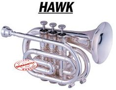Hawk Nickel Plated Pocket Trumpet, Wd-Tp318, 2015 Amazon Top Rated Trumpets #MusicalInstruments
