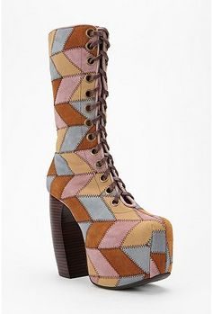 Wow, words can not describe how crazy I find these boots!! I'd have to start a band and wear hot pants if I owned them!