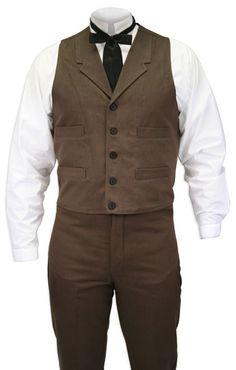 Sable Brushed Cotton Vest [002574S]  http://www.steampunkemporium.com/store/002574S.php?__utma=1.22530529.1338219850.1338219850.1338219850.1&__utmb=1.8.10.1338219850&__utmc=1&__utmx=-&__utmz=1.1338219850.1.1.utmcsr=avg|utmccn=(organic)|utmcmd=organic|utmctr=steampunk%20mens%20vest%20&__utmv=-&__utmk=80046743