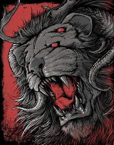 """Beast of War 2"" Art Print by MindkillerINK on Society6."