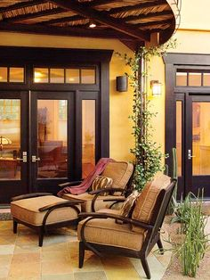 More pictures from the columnless  patio.Tuscon Outdoor Living Nook - Modern Barrio Garden - MyHomeIdeas.com