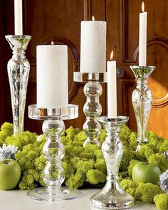 I think these candlesticks / so clean with the acid green is fabulous #IntDesignerChat via @abcdesigns