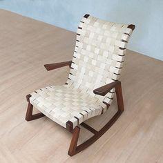 Leather Rocker,shop online masayacompany.com, @masayacompany #finefurniture #wooddesign #sustainable #handmade
