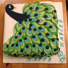 Peacock 30th birthday cake