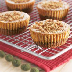 cheesecakes | Gingerbread Pumpkin Mini Cheesecakes