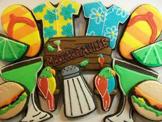 Throwing a #margaritaville themed party? These cookies would be the perfect sweet touch. #DIY #PartyIdeas