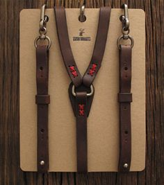 Cool leather suspenders
