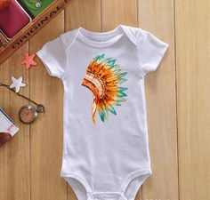 Indian baby onesie boho baby clothes hipster by ForPandasFriends