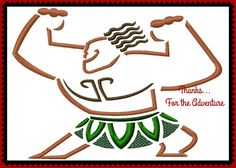 Maui from Moana Sketch Digital Embroidery Machine Design File 4x4 5x7 6x10 by Thanks4TheAdventure on Etsy