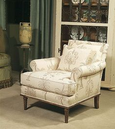 Century Signature (11-808) Grayson Chair ... in leather with a different finish