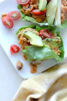 Spicy Chickpea Lettuce Wraps B