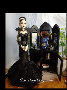 Unique Tri Fold Gothic Mirror and Cabinet Set by ShariDeppDesigns, $99.00