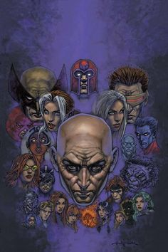 Professor X, Magneto and the X-Men by Igor Kordey *