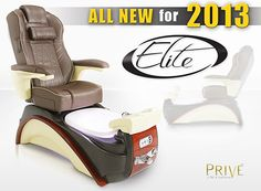 Prive Elite: Manufacturer Lexor Inc. Good for day spas and higher end. Great pedicure chair and there's 2 year parts and labor warranty. The bowl lights up too. www.lexor.com/prive