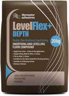 We always love a pallet deal at Buy The Pallet so we are delighted with the new Tilemaster LevelFlex+ DEPTH, a quality floor levelling compound from a quality company. We offer pallet, half-pallet and BULK BUY deals on #tilemaster - we always love a good deal. #levelflexdepth #buythepallet Electric Underfloor Heating, Underfloor Heating Systems, Compressive Strength, British Standards, Surface Finish, Heating Element, On Set, Pallet, Flexibility