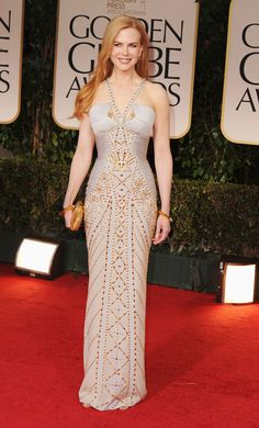 Nicole Kidman look very Versace in her SS 2012 at the 2012 Golden Globes