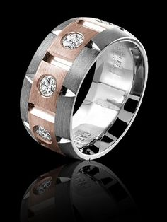 Mens designer wedding band