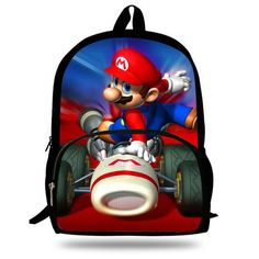 16-Inch Popular Children School Bag Kids Printing Cartoon Backpack Hero Superman Characters Ninjago Bag For Kids Boys Girls