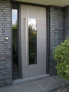 Affordable Modern Glass Door Designs Ideas For Your Home - Wohnen - Door Design Modern Entrance Door, Modern Front Door, House Front Door, House Doors, House Entrance, Front Door Entrance, Main Door Design, Front Door Design, Modern Door Design