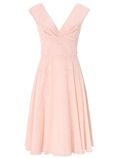 Dusky Pink Anthea Chiffon Short Dress