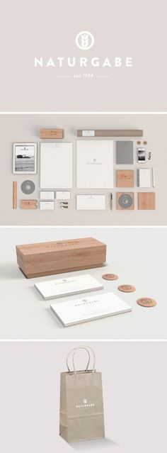 NATURGABE, a neutral and modern #stationery suite design