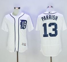 19ad028ba Tigers #13 Lance Parrish White Flexbase Authentic Collection Stitched MLB  Jersey Soccer Jerseys, Justin