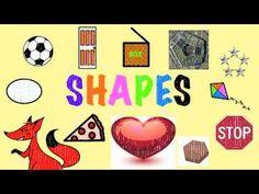 Shapes song for children- repeating, 1 minute long Math Songs, Preschool Songs, Kids Songs, Math Activities, Teaching Shapes, Teaching Math, Teaching Tips, Math Classroom, Kindergarten Math