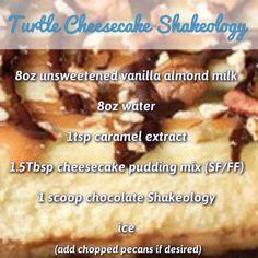 Turtle Cheesecake Shakeology recipe
