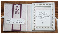 Inside the book card. To the left is a book mark. CS Reprint / Paper Accents . Text hand made. Made by Kirsi Arvidsson