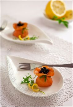 Salmon with green pea pate - by Carina http://pinterest.com/ahaishopping/