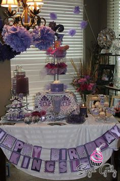First Birthday Purple Theme Cake Table with Sugie Galz