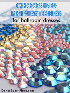 choosing rhinestones for ballroom dresses