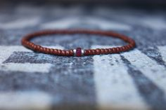 Bracelet for Men - Natural Ruby Genuine No Dyed No Heat Treated, Ruby is with visible conflicts and some raw incrustations