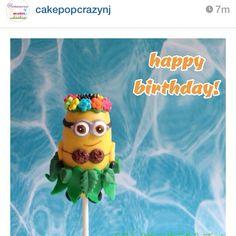 awesome minion cake pop design!