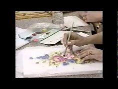 Pintura em Tecido Nella Davini Rosas 4