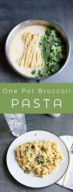 One Pot Creamy Broccoli Pasta – A Beautiful Mess