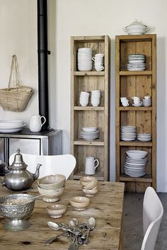 Dish shelves