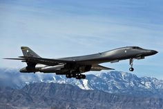 Air Force Lancer heavy bomber aircraft departs for a training mission over the Nevada Test and Training Range during Red Flag Military Jets, Military Aircraft, Military Weapons, Ipad Mini 3, Fighter Aircraft, Fighter Jets, B1 Bomber, Engin, Air Force Bases