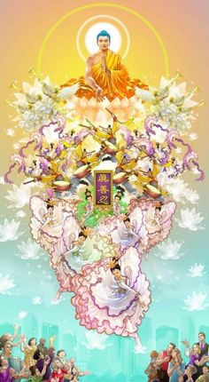 Lotus Buddha, Art Buddha, Buddha Painting, Buddha Buddhism, Theravada Buddhism, Amitabha Buddha, Buddhist Philosophy, Heaven's Gate, Taoism